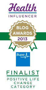 Bupa health blog awards 2013 finalist